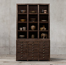Printmaker's Triple Sideboard & Open Hutch
