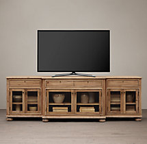 French Empire Glass Media Console