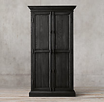 French Panel Double-Door Cabinet