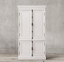French Panel Double-Door Sideboard & Hutch