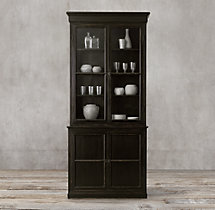 Clarendon Glass Double-Door Sideboard & Hutch