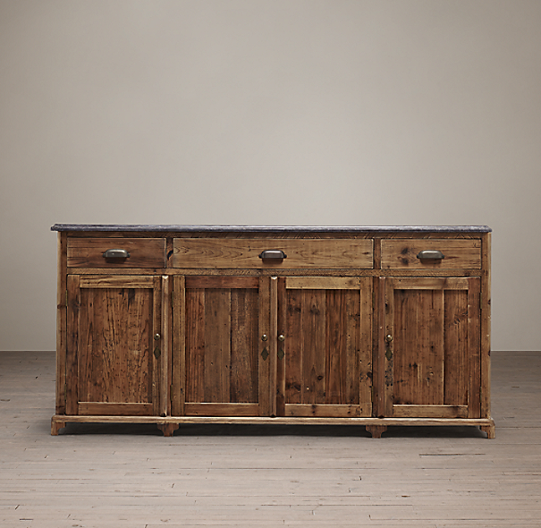 19th C Victorian Bluestone 67 Quot Wood Sideboard