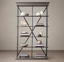 Parisian Cornice Double Shelving