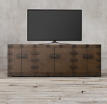 "Heirloom Silver-Chest 90"" Media Console"
