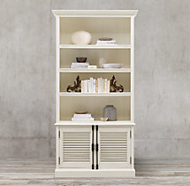 Shutter Double-Door Sideboard & Open Hutch