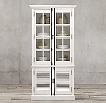 Shutter Double-Door Sideboard & Glass Hutch