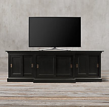 20th C. English Slider Panel Media Console