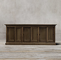 20th C. English Slider Panel Sideboard