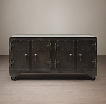 20Th C. Iron Vault Sideboard