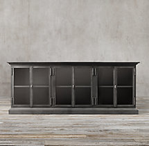 19Th C. Swedish Panel Glass 6-Door Sideboard