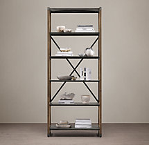 20th C. Zinc Truss Single Shelving