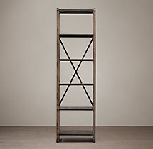 20th C. Zinc Truss Narrow Single Shelving