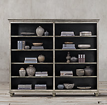 Annecy Metal-Wrapped Double Shelving