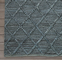Braided Diamante Rug Swatch - Marine
