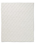 Braided Diamante Rug - White