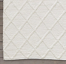Braided Diamante Rug Swatch - White