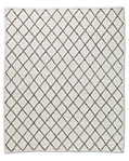 Braided Diamante Rug - White/Grey