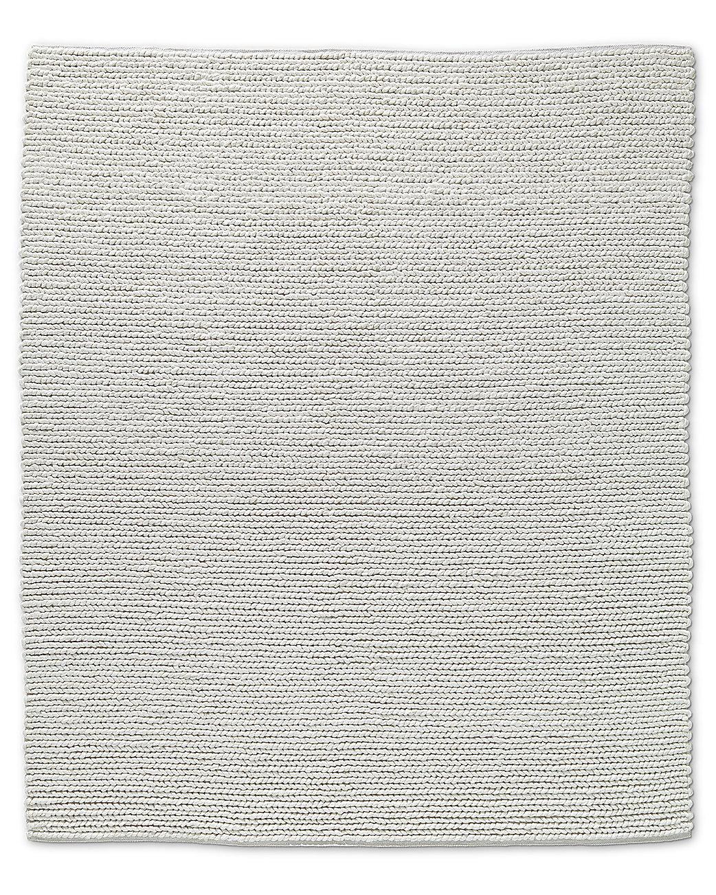 Chunky Textured Rug White