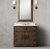 Heirloom Silver-Chest Single Vanity Sink