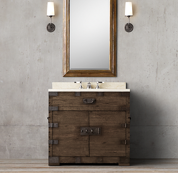 Heirloom Silver Chest Single Vanity