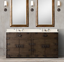 Heirloom Silver-Chest Double Vanity