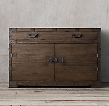 Heirloom Silver-Chest Extra-Wide Single Vanity Sink Base