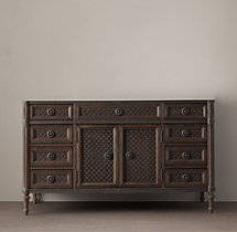 Louis XVI Treillage Single Extra-Wide Vanity Base