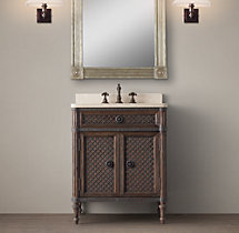 Louis XVI Treillage Powder Room Vanity Sink