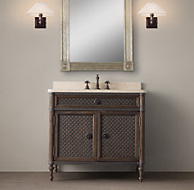 Louis XVI Treillage Single Vanity