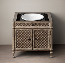Louis XVI Treillage Single Vanity Base