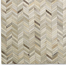 Chevron Cowhide Rug Swatch - Sand