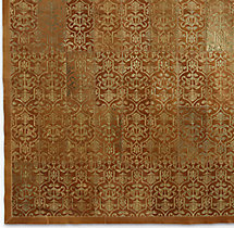 Etched Porta Tile Cowhide Rug Swatch - Caramel