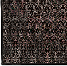 Etched Porta Tile Cowhide Rug Swatch - Chocolate
