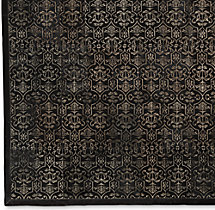 Etched Porta Tile Cowhide Rug Swatch - Black