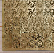 Etched Porta Tile Cowhide Rug Swatch - Sand