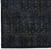 Etched Porta Tile Cowhide Rug Swatch - Navy