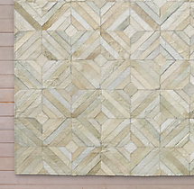 Diamond Cowhide Rug Swatch - Ivory