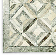 Diamond Cowhide Rug Swatch - Grey