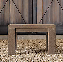 Belgian Trestle Teak Side Table