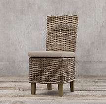 Antilles Rattan Side Chair