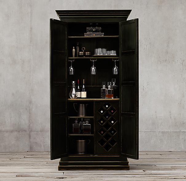 17th C Castell 243 Double Door Bar Cabinet