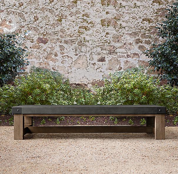 French Beam Concrete & Teak Coffee Table