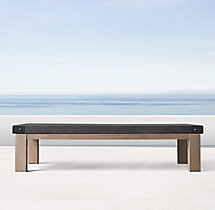 Belgian Trestle Concrete & Teak Coffee Table