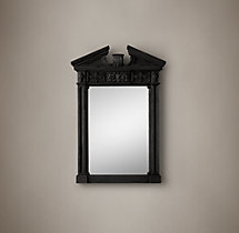 Entablature Mirror - Black