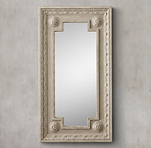Louis XVI Beaded Mirror