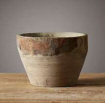 Hand-Carved Kiri Wood Bowl - Small