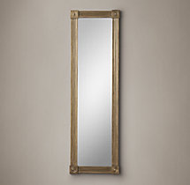 Circa 1810 French Empire Metal Leaner Mirror - Brass