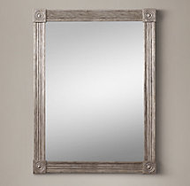 Circa 1810 French Empire Metal Mirror - Silver