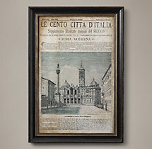 Vintage Italian Newspaper - Roma Moderna Full Cover 2