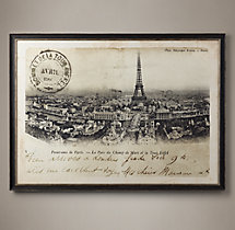 Vintage French Postcard Large - Tour Eiffel Et Ferris